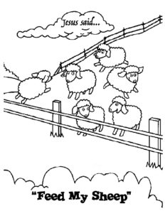 April Week 3 - Feed My Sheep Coloring Page