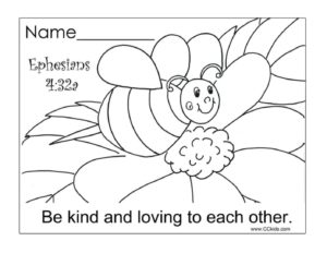 May Week 3 - Be Kind coloring page 2