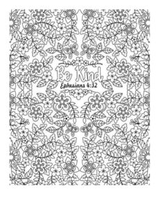 May Week 3 - Be Kind coloring page 3