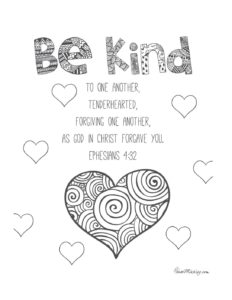May Week 3 - Be Kind coloring page