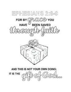May Week 1 - Gift of God coloring