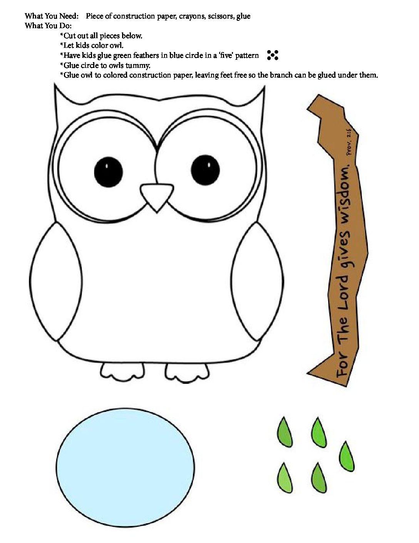 August Week 2 - Owl Craft