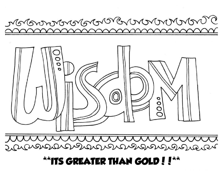August Week 1 - Wisdom Coloring Page